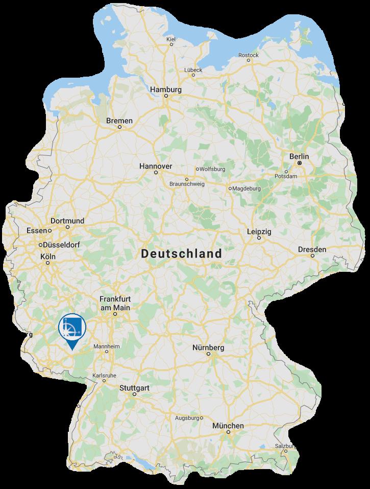 Personalmarketing Peter Freitag Karte Deutschland